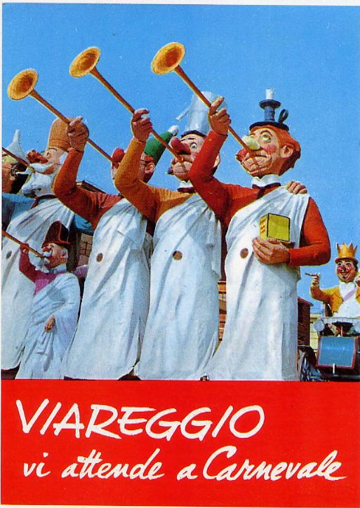 il carnevale di viareggio manifesto anni 70
