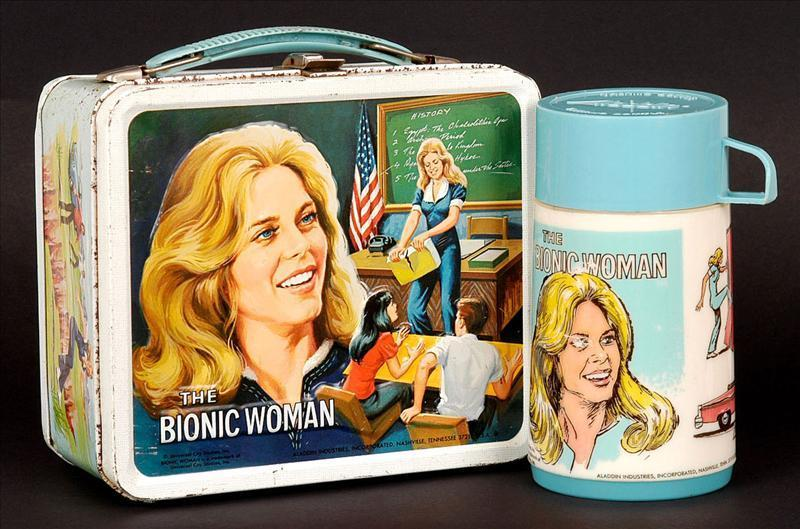 The Bionic Woman Vintage 1978 donna bionica Lunch Box lunch boxes-