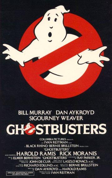 La locandina di ghostbusters del 1984