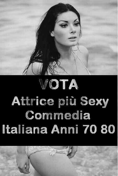 sondaggi attrice sexi commedia italiana