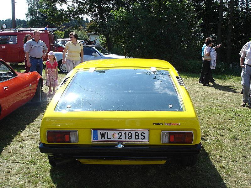 Vista posteriore di una Bagheera prima serie