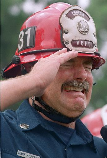 torri gemelle pompiere