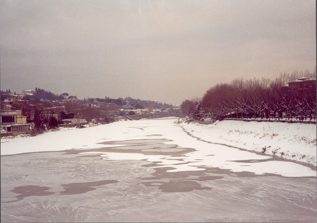 Nevicata del 1985 Arno ghiacciato