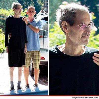 Steve jobs visibilmente provato dalla malattia 1