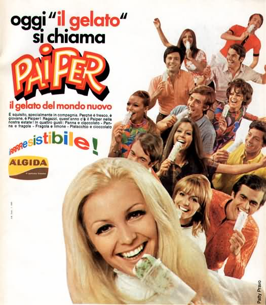 algida carosello patty pravo piper gelato