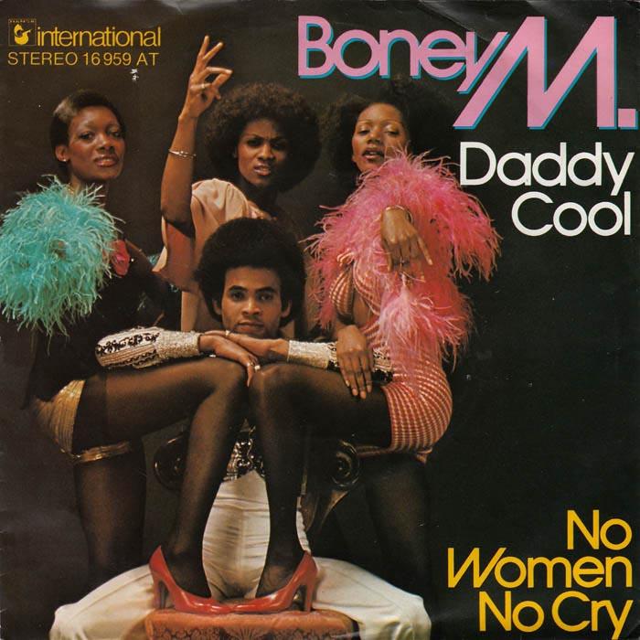 La copertina del 45 giri di Daddy Cool / No Women No Cry