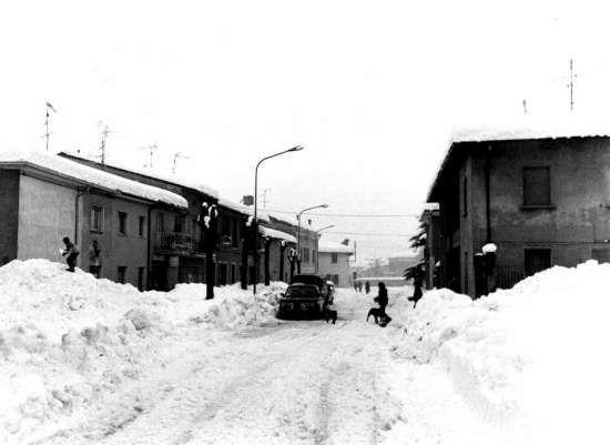 nevicata del 1985 paesaggio