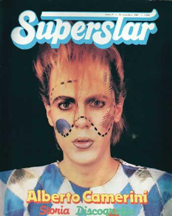 camerini alberto superstar poster rivista anni 80
