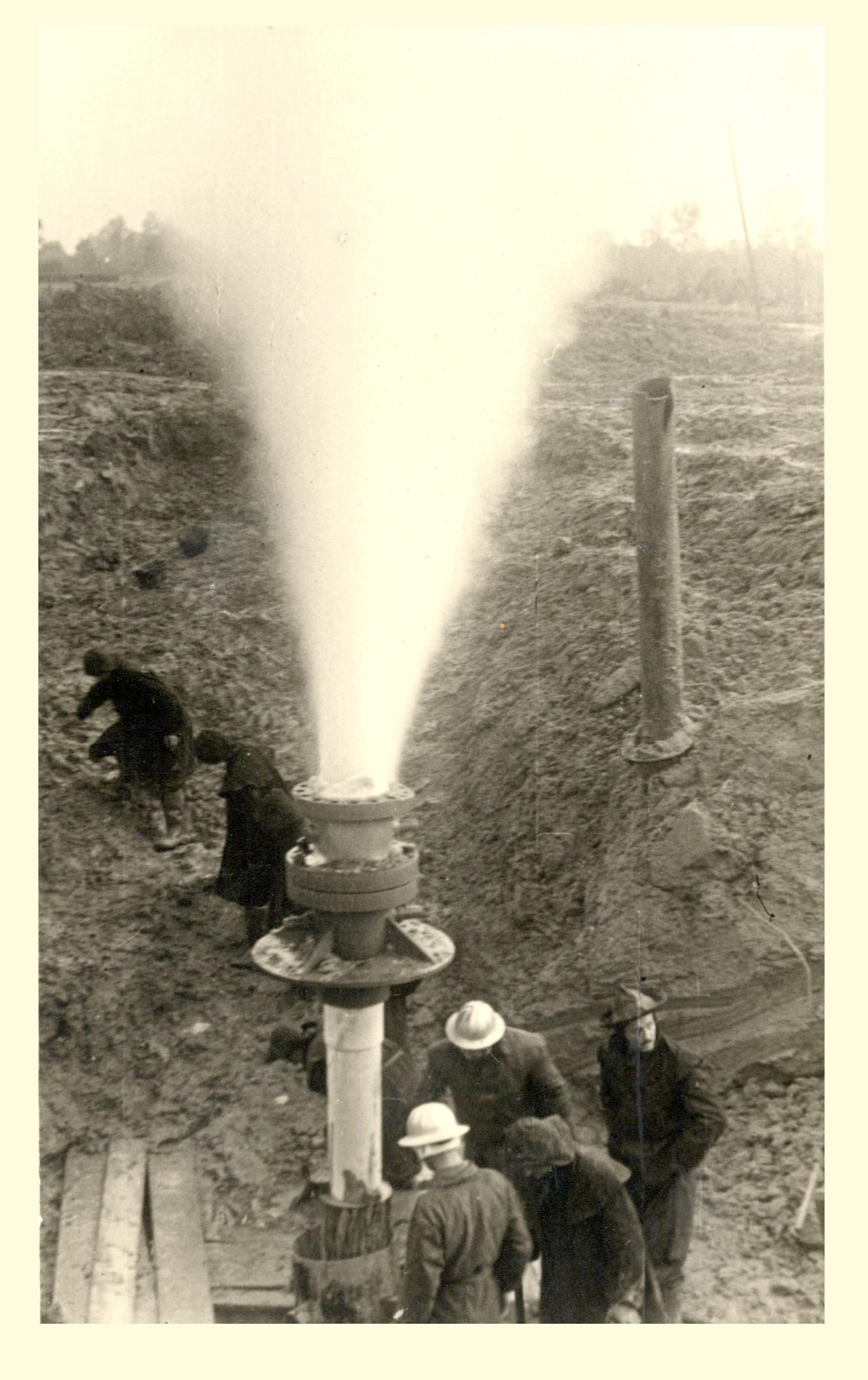 Gicimento metano a Cortemaggiore 1950