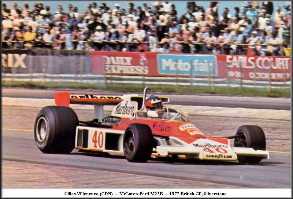 Gilles Villeneuve Mc Laren 1977