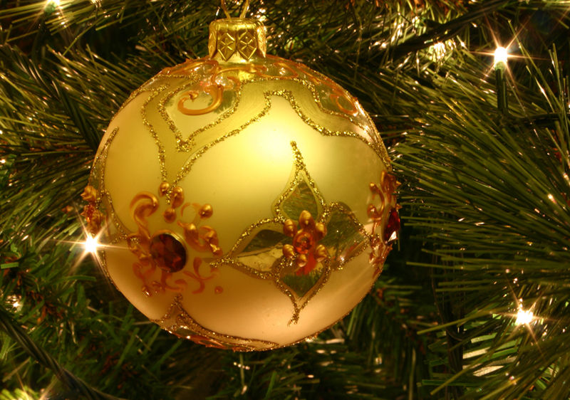 albero di natale ornamenti palle