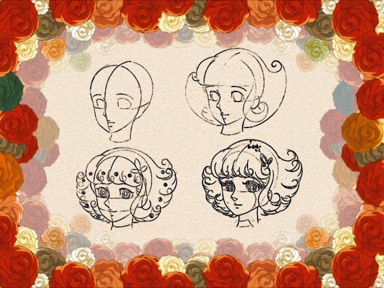 disegni Lulù l'angelo tra i fiori
