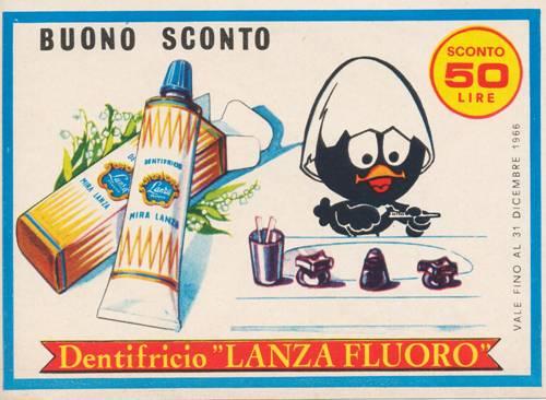 mira lanza dentifricio calimero