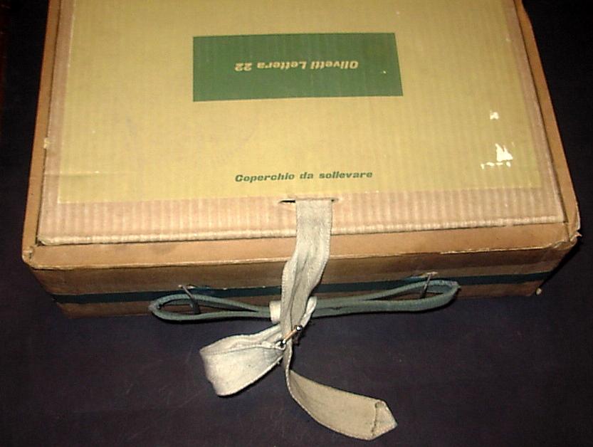 olivetti lettera 22 confezione vintage scatola