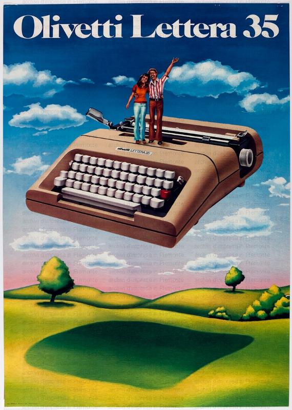 olivetti lettera 35 pubblicità macchina da scrivere