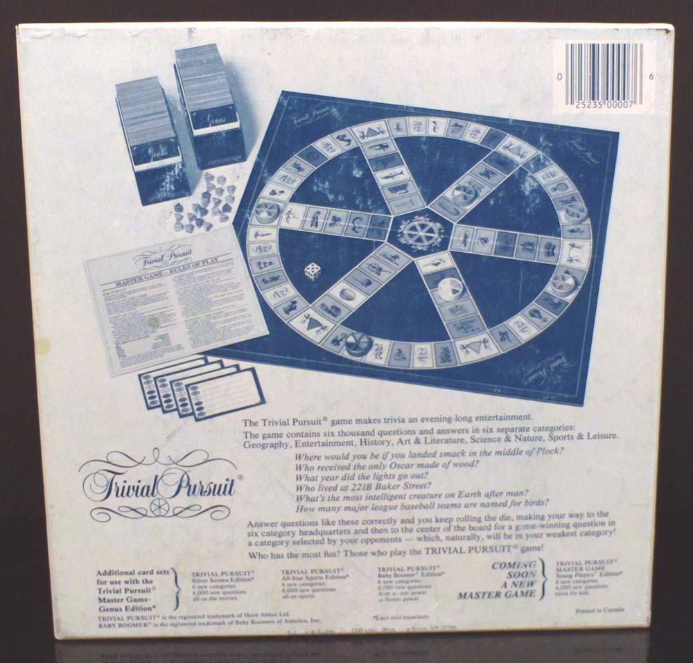 Trivial Pursuit retro scatola originale