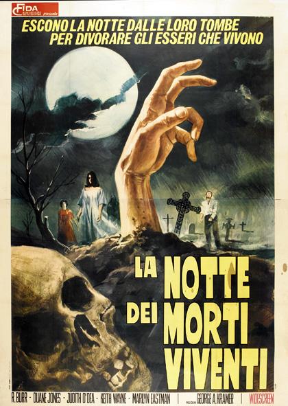 la notte dei morti viventi locandina italiana romero