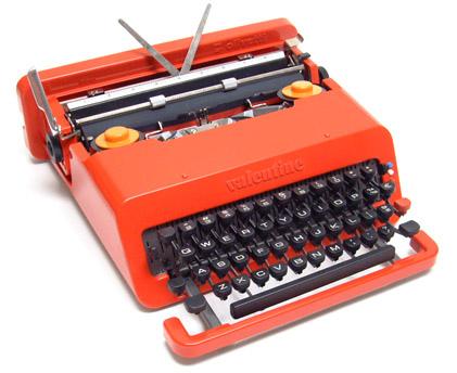 macchina scrivere olivetti valentine