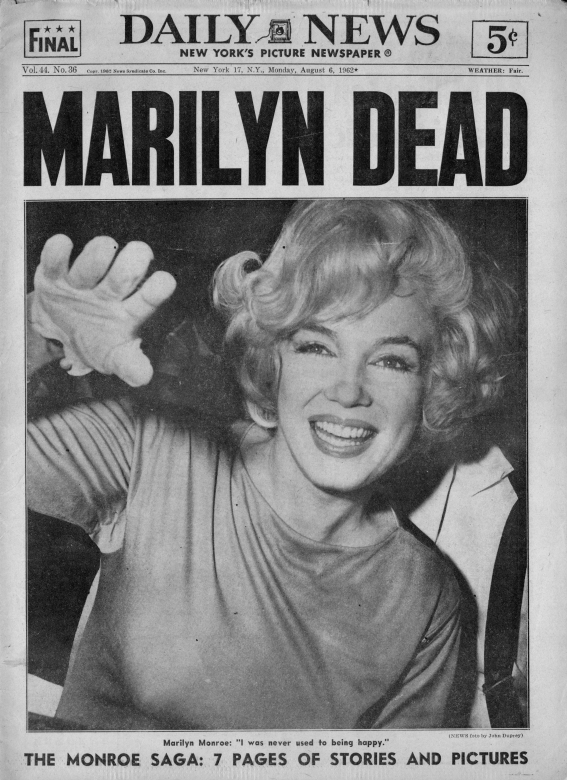 La morte di Marilyn Monroe