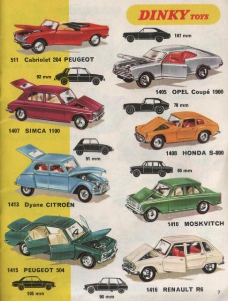 dinky catalogo 1970