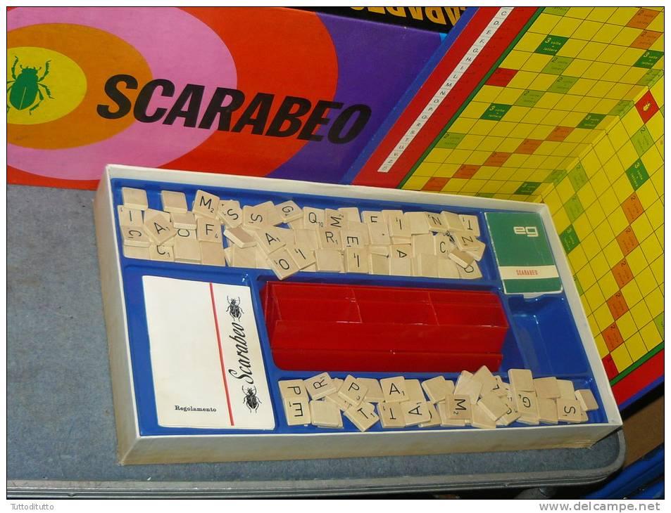 scarabeo giocattolo gioco tavola vintage