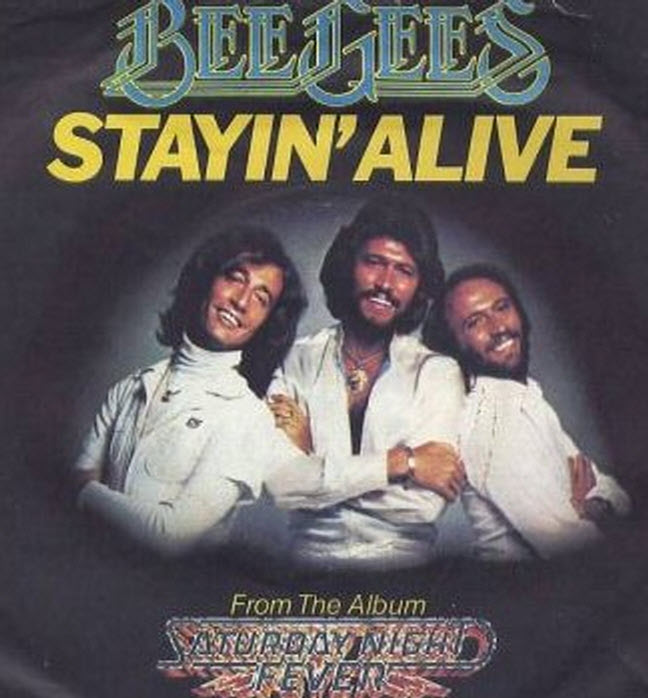 staying alive bee gees copertina