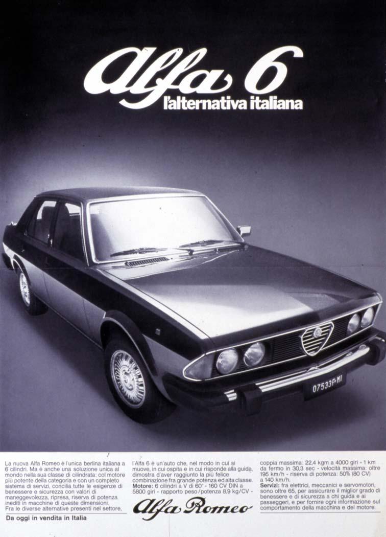 alfa 6 pubblicità italia 1979