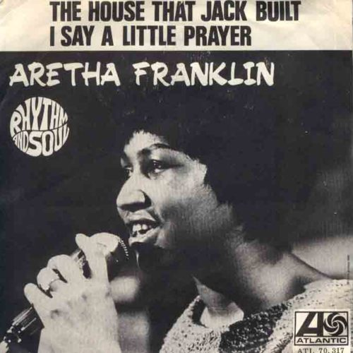 aretha franklin i say a little paryer copertina 45 giri