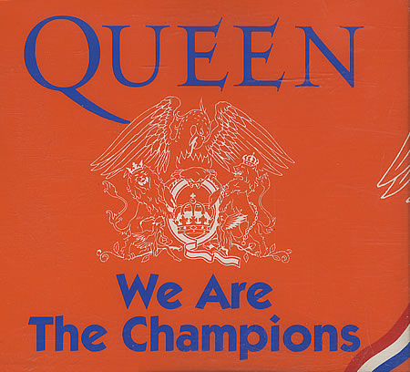queen we are the champions copertina 45 giri