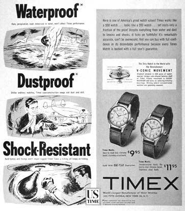 timex pubblicita 1953