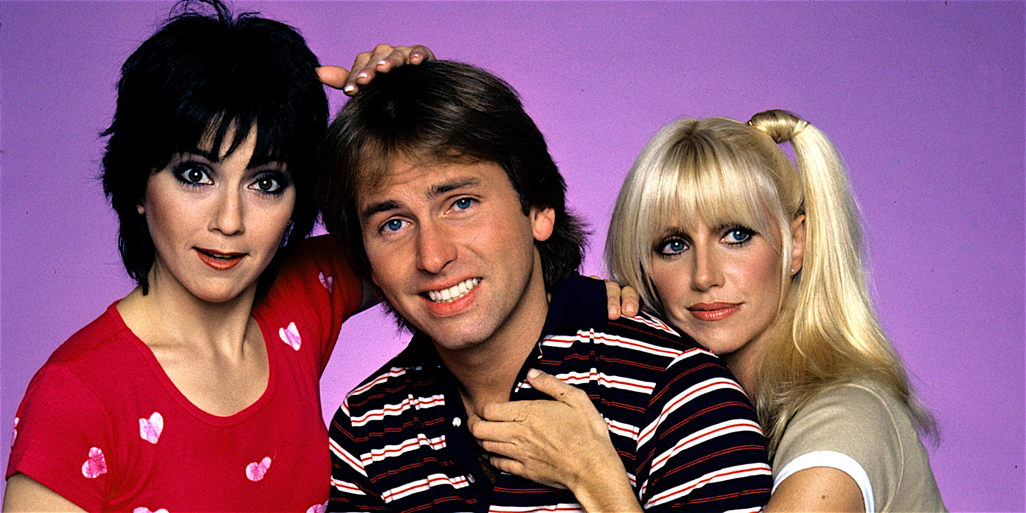 THREE'S COMPANY - Gallery - Season Four - 9/11/79 Joyce DeWitt (Janet), John Ritter (Jack), Suzanne Somers (Chrissy) (AMERICAN BROADCASTING COMPANIES, INC.)