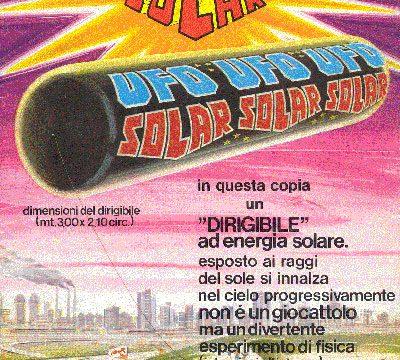 UFO SOLAR – Dirigibile ad energia solare – (1978)