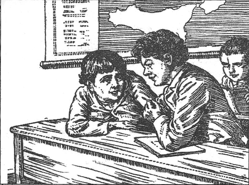 libro cuore illustrazione originale