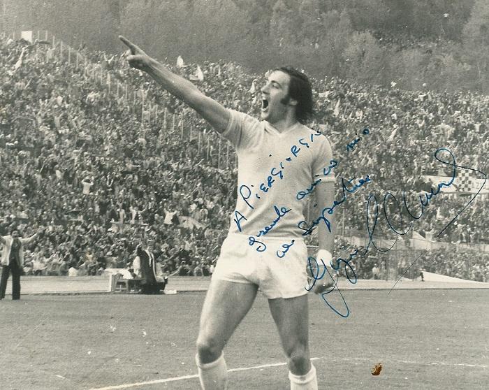 giorgio chinaglia autografo lazio