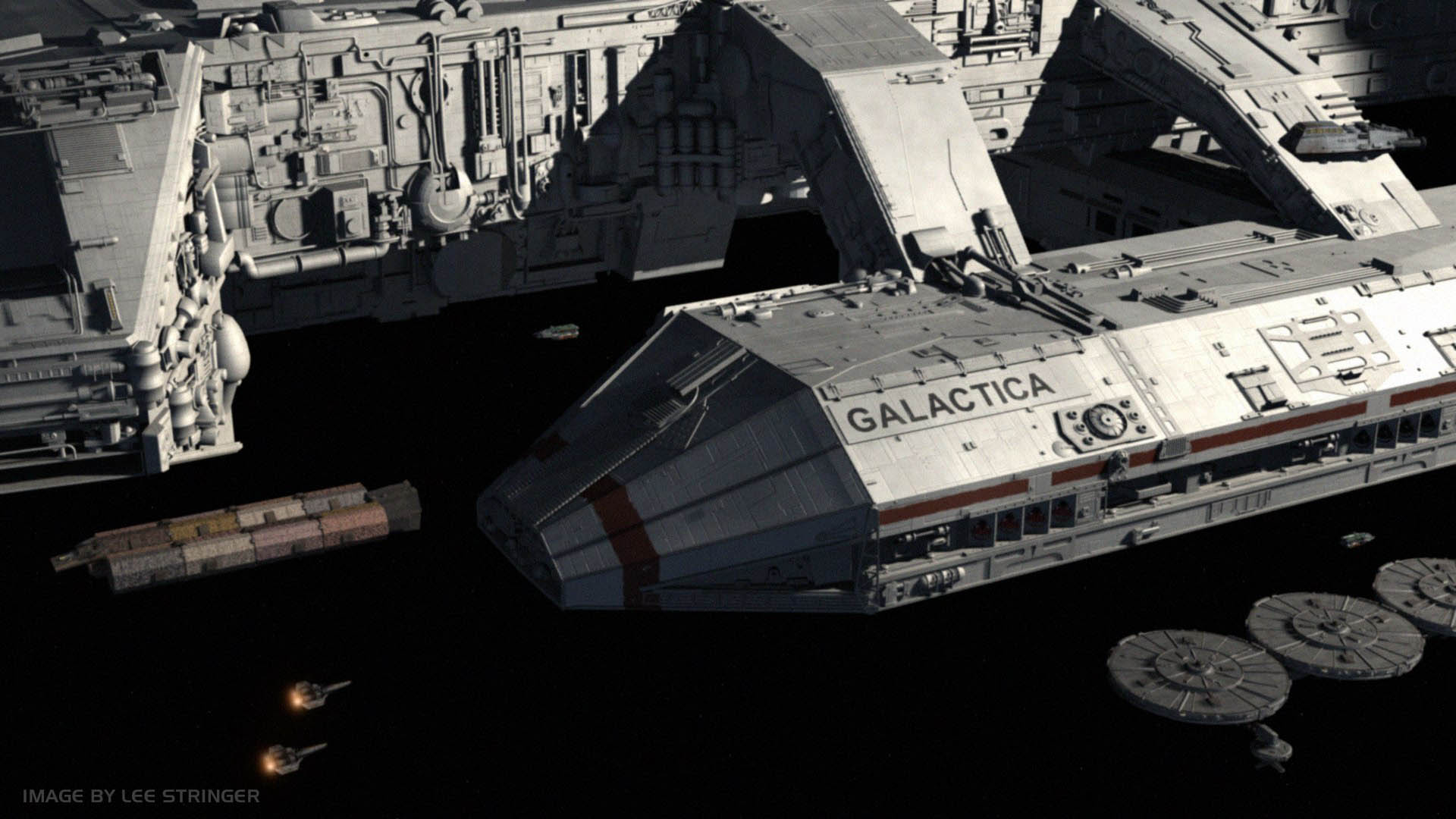 battlestar galactica space_hd