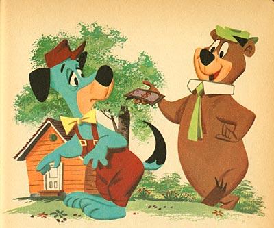 Orso yoghi cartoni animati vintage curiosando anni 70