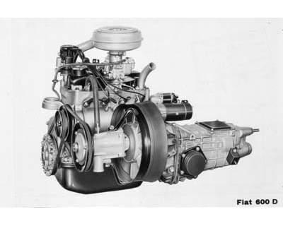 fiat 600 d motore