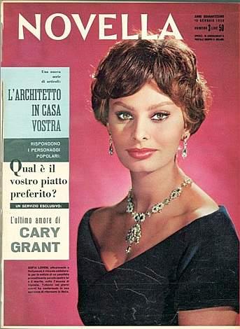 novella 2000 copertina 1959 sophia loren