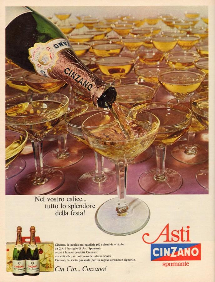 Cinzano asti spumante pubblicità 1964