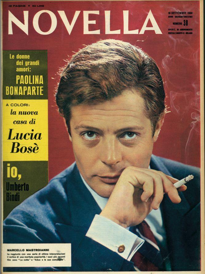NOVELLA 2000 COPERTINA MASTROIANNI 1960
