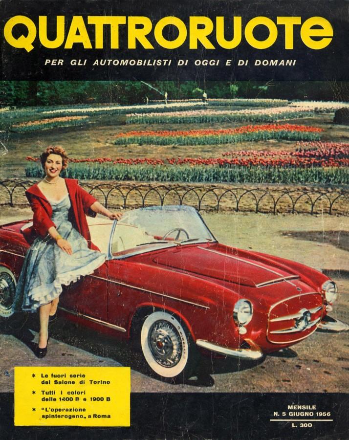 quattroruote copertina giugno 1956
