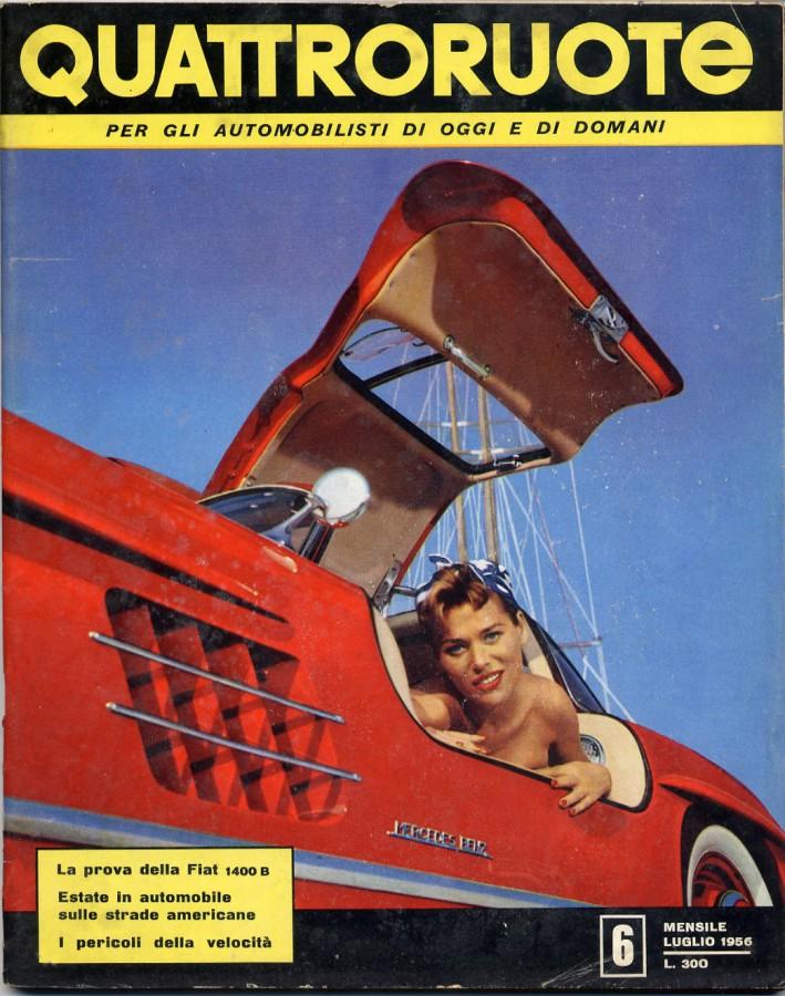 quattroruote numero copertina luglio 1956 6