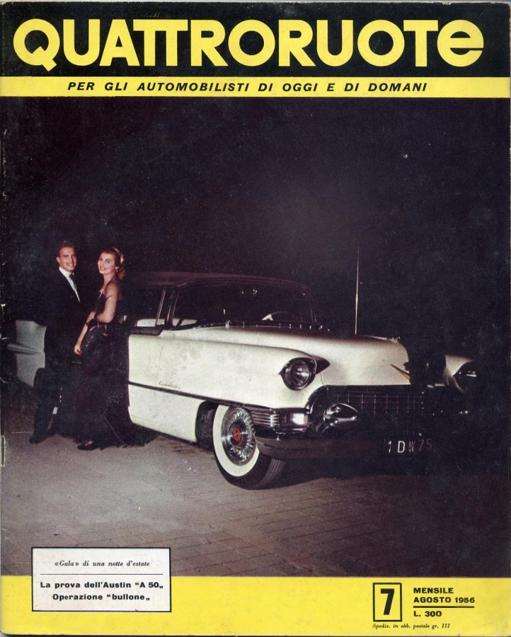 quattroruote copertina agosto 1956