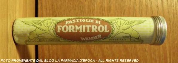 pastigle formitrol foto farmacia d'epoca