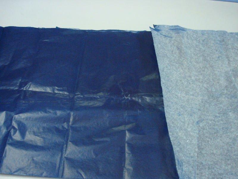 carta carbone colore blu passato