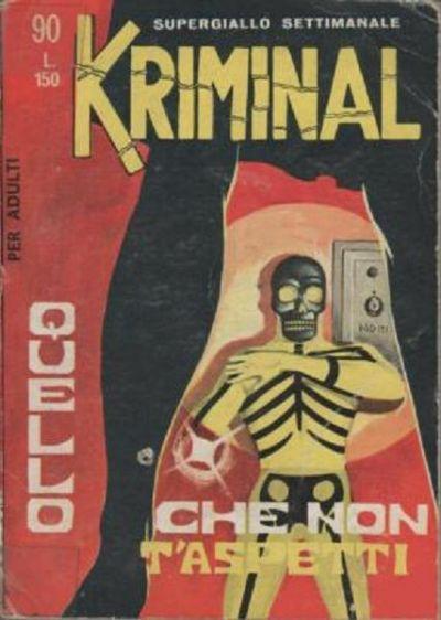 kriminal copertina editoriale corno numero 90