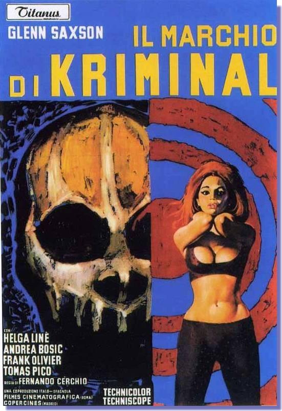 marchio di kriminal locandina film 1966