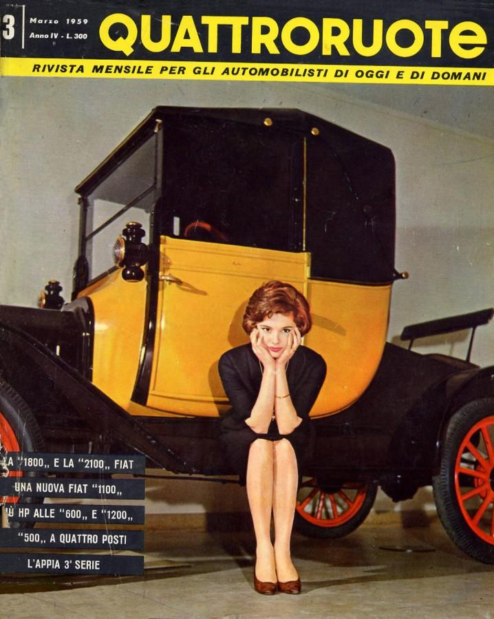 QUATTRORUOTE COPERTINA EDICOLA 1959 MARZO