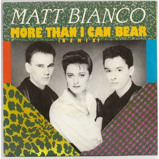 matt bianco more than i can bear copertina