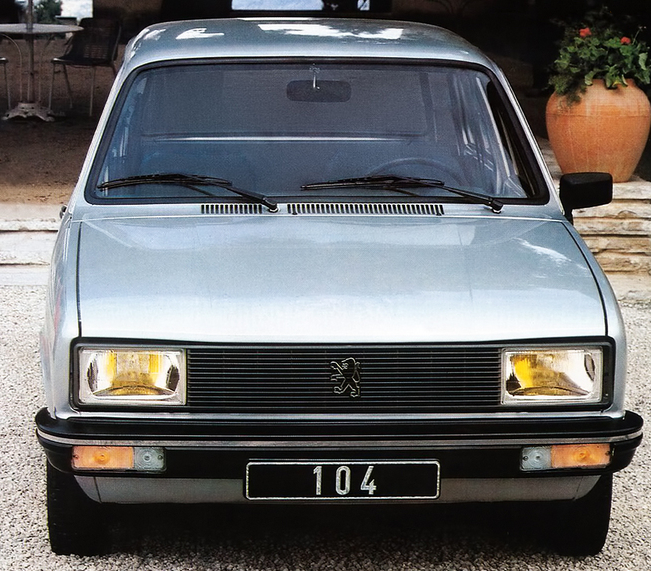 peugeto 104 frontale